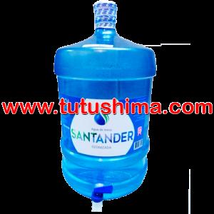 Envase con caño + agua ozonizada Santander 20 litros