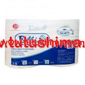 Papel Higiénico Ellia Jumbo 550 Mts x 6 Rollos