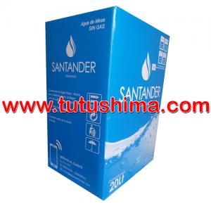 Caja de agua Santander ozonizada 20 litros con caño incorporado