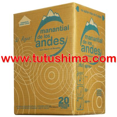 Caja de agua Mineral  Manantial de los Andes en Lima