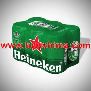 cerveza Heineken 330 ml pack x 6 latas