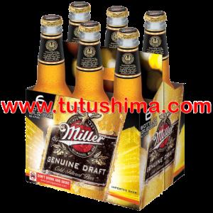 cerveza miller 355 ml pack x 6 botellas