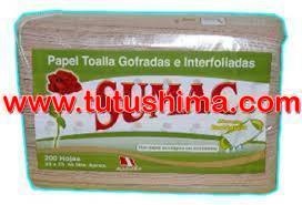 Papel Toalla Sumac Ecológico Interfoliado 200 hojas Cja x 20 Uni