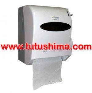 Dispensador papel Toalla Jumbo Palanca Blanco 300 mt