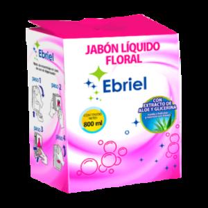 Jabón Líquido Ebriel Frutas-Floral Con Áloe y Glicerina 800 ml