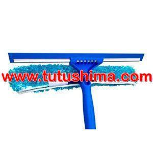 Limpia Luna Jebe  35 cm y Mopa Microfibra Celeste 40 cm+ Mango Aluminio 1.50 cm