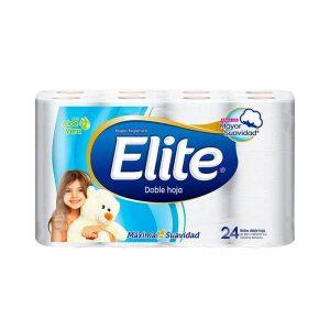 Papel Higienico Elite doble hoja blanca con aloe vera  x 24 Rollos