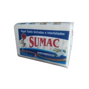 Papel Toalla Sumac Gofrado Interfoliado 200 Hojas cj x 20 U
