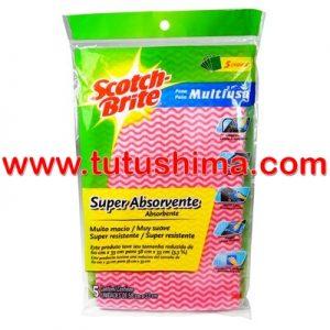 Paño Scotch Brite  Multiuso Super Absorvente x 5 uni