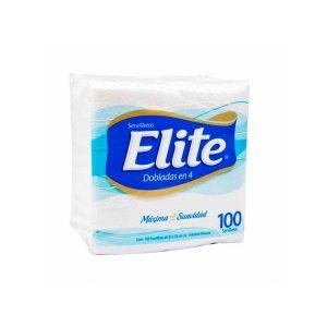Servilleta Elite Doblas En 4 x 100 Uni