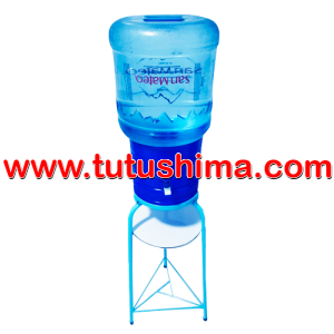 Base Metálica + Surtidor Azul + Bidón de agua San Mateo 21 lt