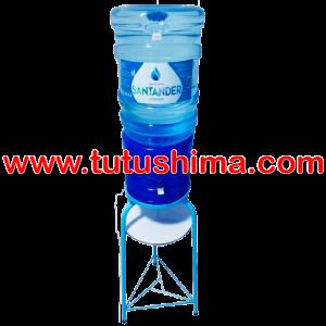 Base Metálica + Surtidor Azul + Bidón de Agua Santander 20 lt
