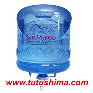 Soporte + Valvula + Envase + agua mineral de San Mateo 21Lts