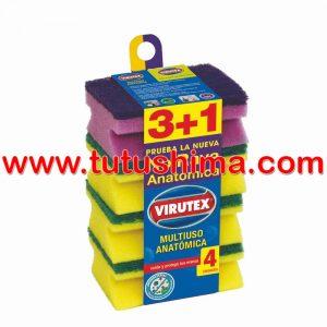 Esponja Virutex Multiuso x 4 un